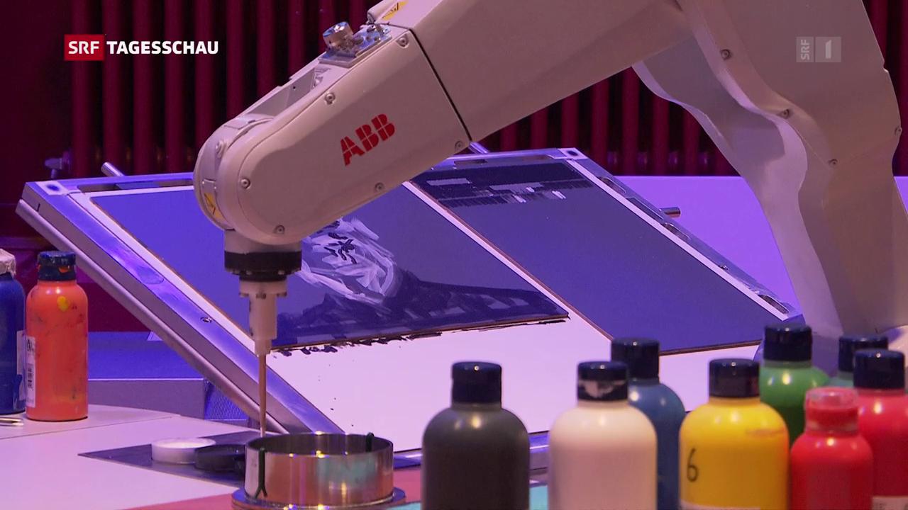 Roboter Malt Bilder