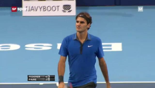 Federer im Schnellzugstempo im Halbfinal («sportaktuell»)