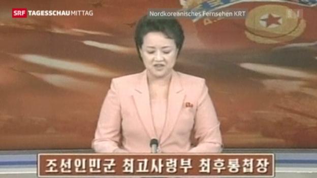 Video «Nordkorea droht erneut» abspielen