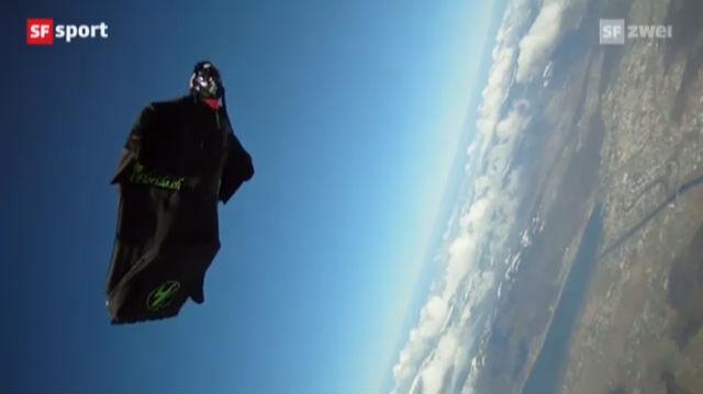 Mit dem Wingsuit über die Alpen