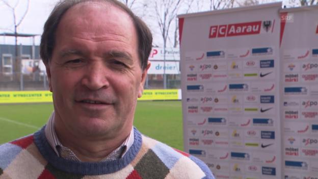 Video «Fussball: Super League, FC Aarau, Raimondo Ponte als neuer Trainer vorgestellt» abspielen