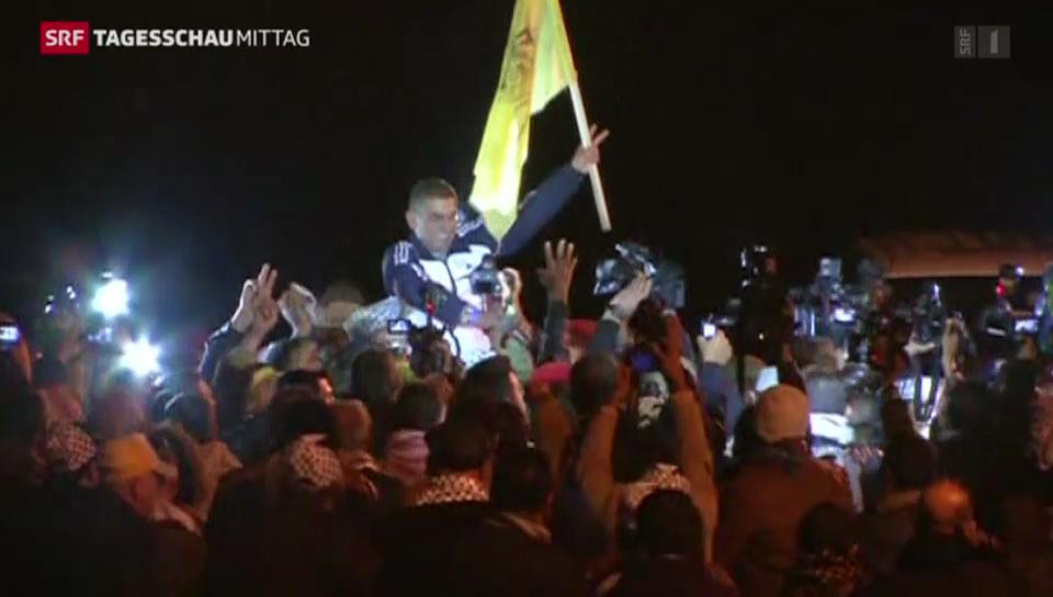 Israel lässt Palästinenser frei