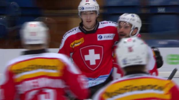 Video «Eishockey: Zusammenschnitt Testspiele Nationalmannschaft» abspielen