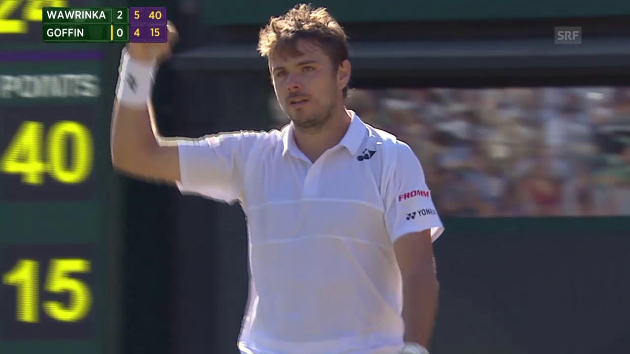 Tennis: Wimbledon, Wawrinka - Goffin