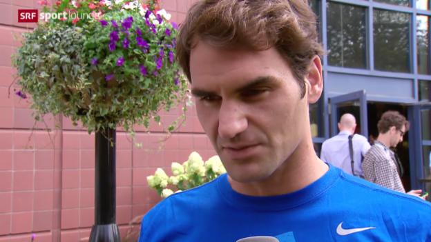 Video «Roger Federer – die Nummer 3 der Welt ist Top-Favorit am US Open» abspielen