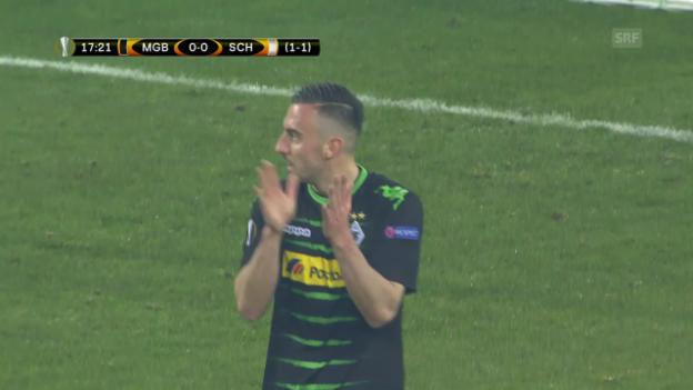 Video «Gladbach vergibt 2:0-Führung und scheitert an Schalke» abspielen