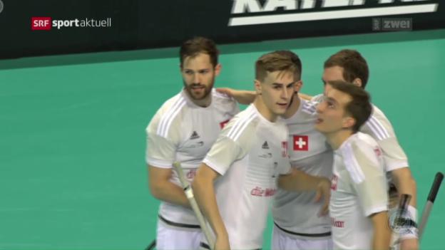 Video «Schweizer Unihockeyaner startet mit Sieg zur WM» abspielen