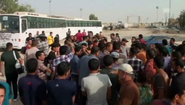 Video «Freiwillige melden sich in Kerbala zum Kampf gegen die Isis» abspielen