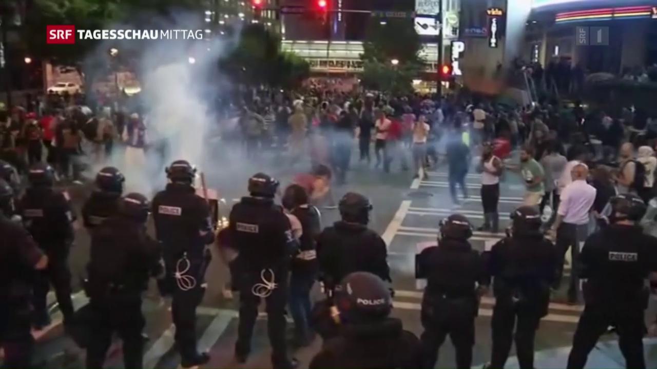 Polizeigewalt provoziert in USA Randalen