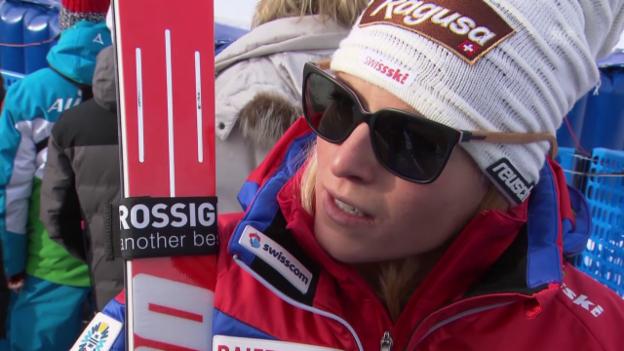 Video «Ski Alpin: Super-G in Cortina, Interview mit Lara Gut» abspielen