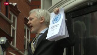 Video «Assange bleibt in der Botschaft» abspielen