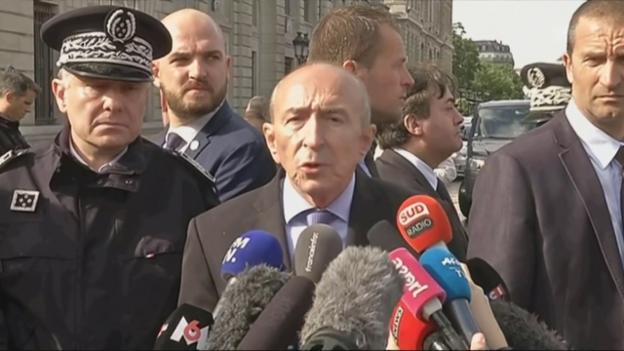 Video «Frankreichs Innenminister über den Tathergang (französisch)» abspielen