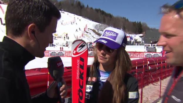 Video «Ski: Weltcup-Super-G in Méribel, Interview Maze» abspielen