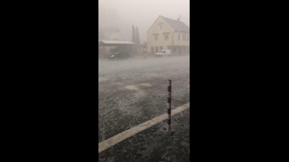 Hagelsturm in Bignasco/TI