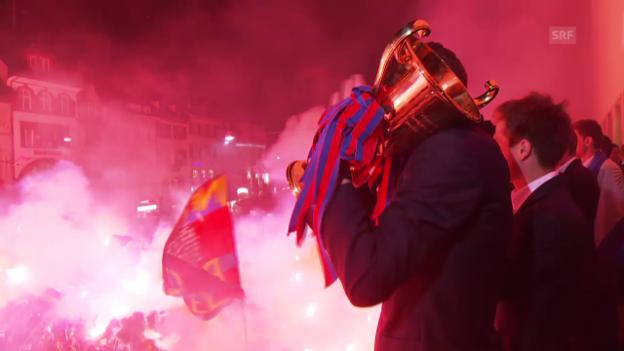 Video «Fussball: Impressionen von Basels Meisterfeier» abspielen