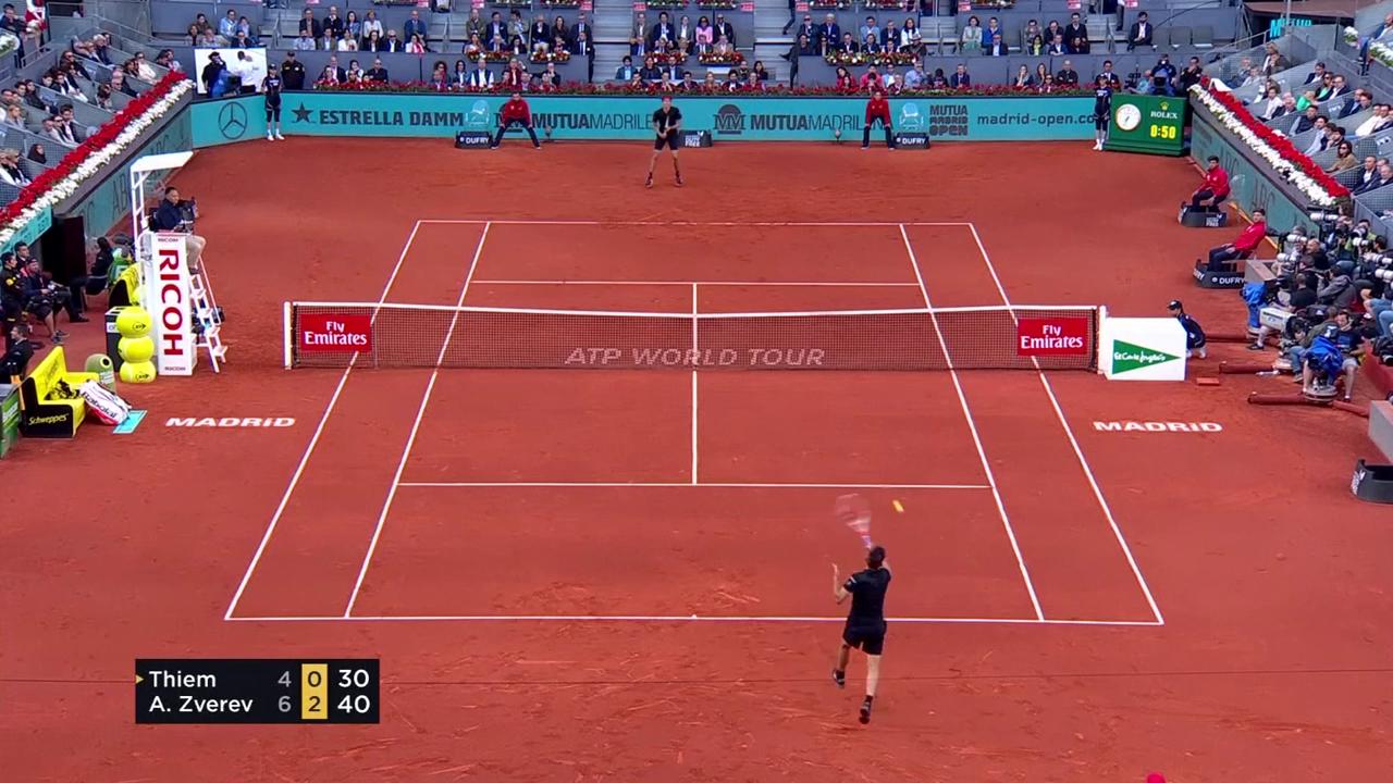 Zverev besiegt Thiem im Final von Madrid