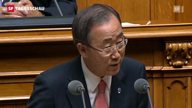 Video «Ban Ki Moon in Bern» abspielen