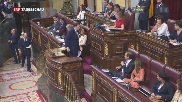 Video «Regierungskrise in Spanien zu Ende» abspielen