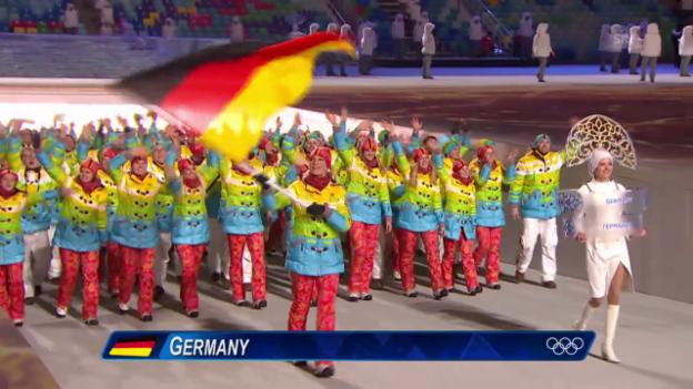 Video «Sotschi: Eröffnungsfeier, Einmarsch Deutschland («Sotschi direkt», 07.02.14)» abspielen
