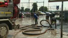 Video «Überschwemmungen und Hangrutsch nach Unwetter» abspielen