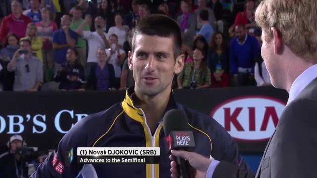 Platzinterview Novak Djokovic (Englisch)