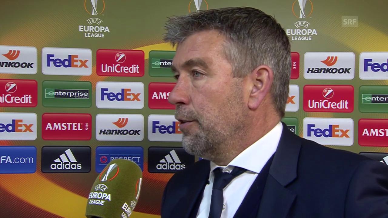 Coach Urs Fischer nach dem Sevilla-Spiel