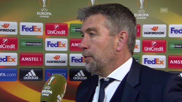 Video «Coach Urs Fischer nach dem Sevilla-Spiel» abspielen