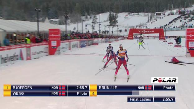 Video «Langlauf: Sprint-Final der Frauen» abspielen