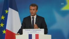 Video «Macron fordert europäische Eingreiftruppe (frz. Originalton)» abspielen