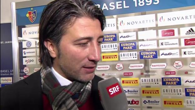 Video «Fussball: Basel-Sion, Interview mit Murat Yakin» abspielen