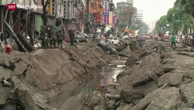 Video «Gasunglück in Taiwan» abspielen