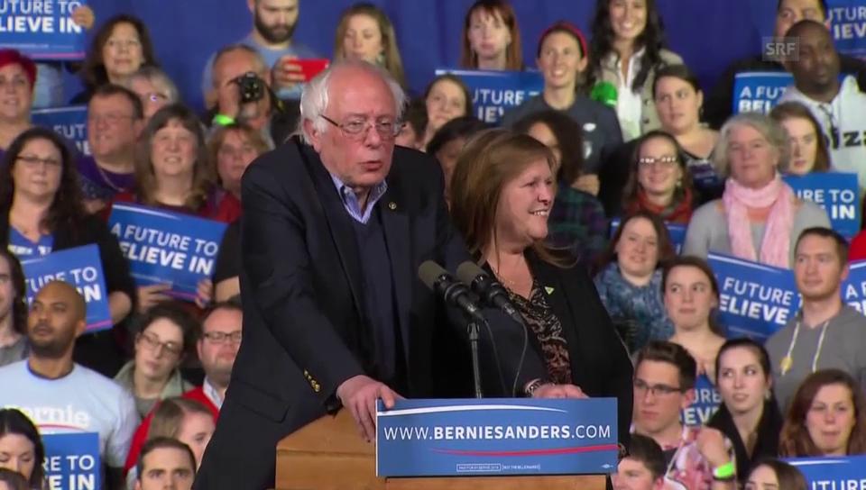 Sanders dankt den Wählern in Vermont (englisch)