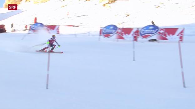 Video «Ski: Slalom Männer in Val d'Isère» abspielen