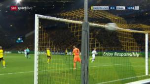 Video «Volley in den Winkel: Bale bringt Real in Führung» abspielen