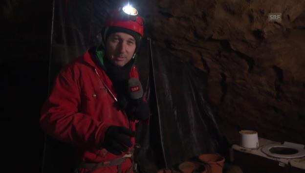 Video «Wenn mann muss: So geht der Toilettengang in der Höhle» abspielen