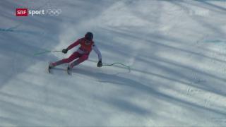 Video «Ski: Abfahrtstraining der Männer» abspielen