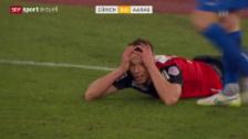 Video «Fussball: FCZ - Aarau, Fehlschuss Sliskovic» abspielen