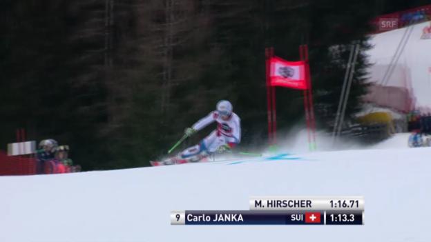 Video «Ski Alpin: Weltcup, Riesenslalom Alta Badia, 1. Lauf Carlo Janka» abspielen