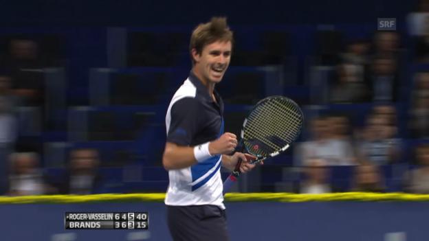 Video «Tennis: Roger-Vasselin - Brands: Wichtigste Ballwechsel (unkommentiert)» abspielen