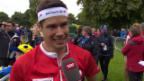 Video «OL: WM-Sprint Männer, Interview M.Hubmann» abspielen