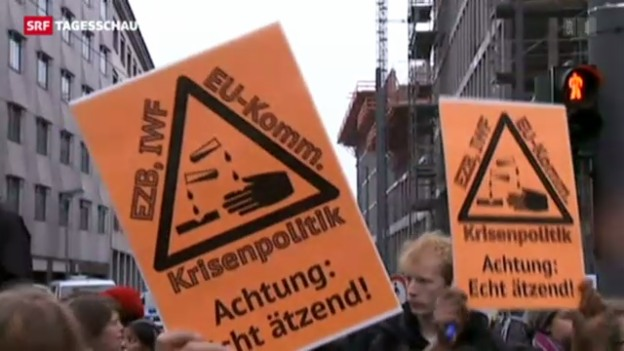 Video «Blockupy in Frankfurt» abspielen
