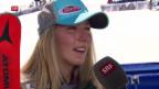 Video «Shiffrin: «Petra hat mich in meinem eigenen Spiel geschlagen»» abspielen