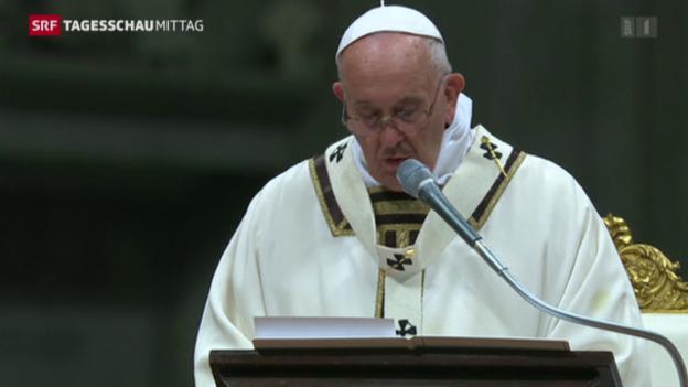 Video «Papst Appell für Frieden im Nahen Osten» abspielen