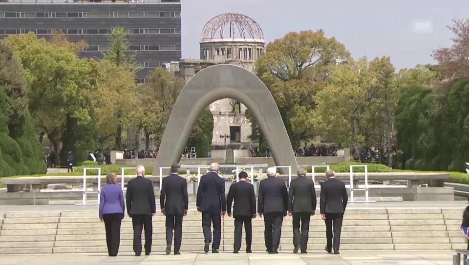 G7-Minister gedenken Hiroshima-Opfer