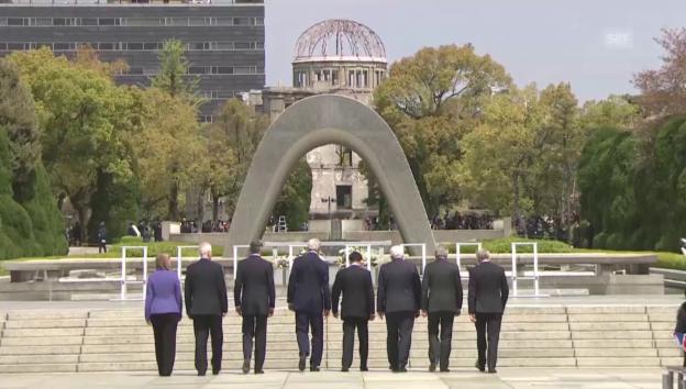 Video «G7-Minister gedenken Hiroshima-Opfer» abspielen