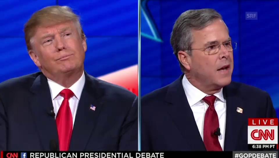 Trump wehrt einen Angriff ab: «Wir brauchen einen harten Kerl»