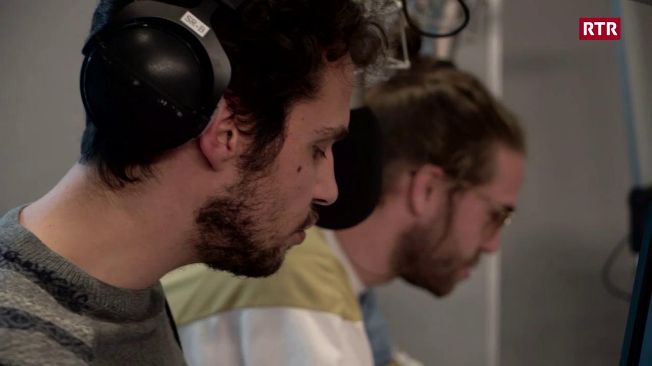 Lo & Leduc en il studio dad RTR emprendan rumantsch