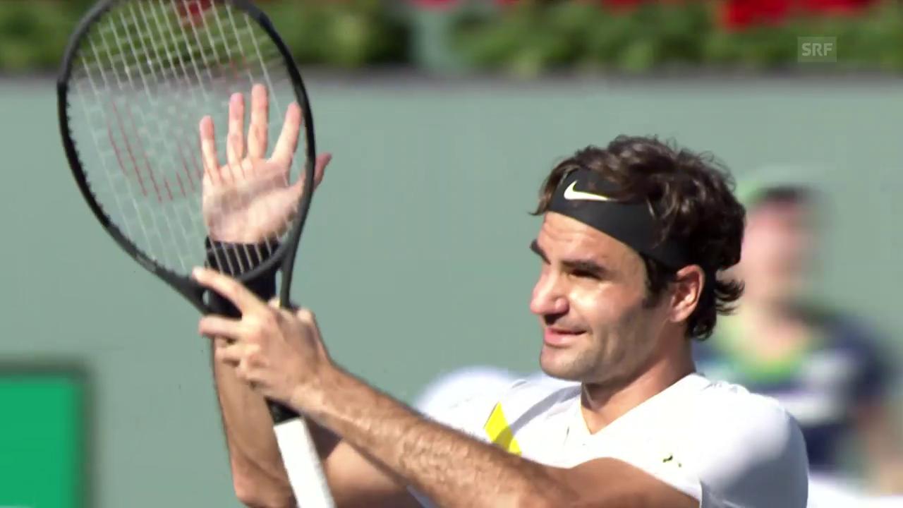 Geglückter Auftakt für Federer in Indian Wells