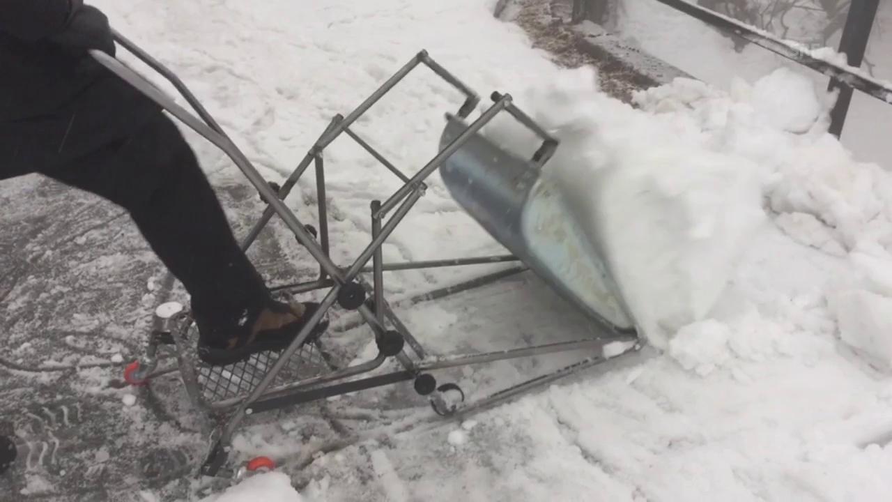 Die EasySnow-Schneeschippe