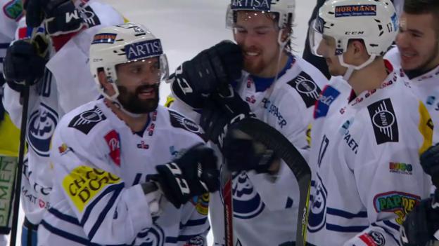 Video «Ambri sichert sich den Ligaerhalt dank Sieg in Langenthal» abspielen